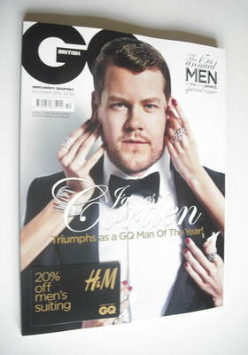 <!--2012-10-->British GQ magazine - October 2012 - James Corden cover