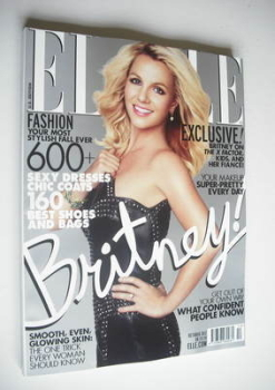 US Elle magazine - October 2012 - Britney Spears cover