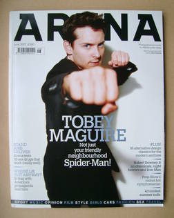<!--2007-06-->Arena magazine - June 2007 - Tobey Maguire cover