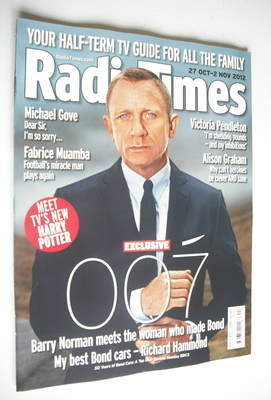 <!--2012-10-27-->Radio Times magazine - Daniel Craig cover (27 October 2012