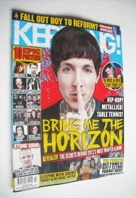 <!--2012-10-27-->Kerrang magazine - Bring Me The Horizon cover (27 October