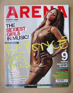 <!--2006-09-->Arena magazine - September 2006 - Beyonce cover