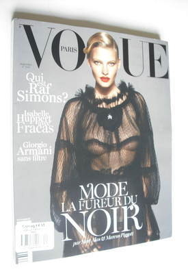 <!--2012-09-->French Paris Vogue magazine - September 2012 - Lara Stone cov