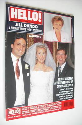 <!--1999-05-11-->Hello! magazine - Catrina Skepper wedding cover (11 May 19