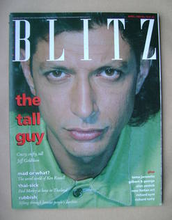 Blitz magazine - April 1989 - Jeff Goldblum cover