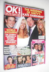 <!--2005-10-04-->OK! magazine - Kate Garraway wedding cover (4 October 2005
