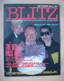 Blitz magazine - September 1983 - Ian Dury, Peter Blake, Humphrey Ocean cover (No. 14)