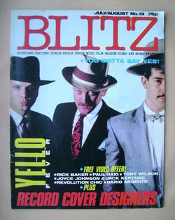 <!--1983-08-->Blitz magazine - July/August 1983 - Yello cover (No. 13)