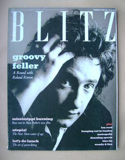<!--1989-03-->Blitz magazine - March 1989 - Roland Rivron cover