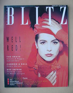 Blitz magazine - February 1986 - Maria Cornejo cover