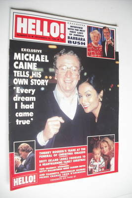 <!--1988-12-10-->Hello! magazine - Michael Caine and Shakira cover (10 Dece