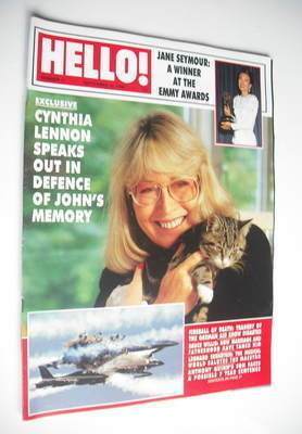 <!--1988-09-10-->Hello! magazine - Cynthia Lennon cover (10 September 1988
