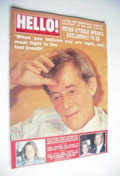 Hello! magazine - Peter O'Toole cover (4 June 1988 – Issue 3)