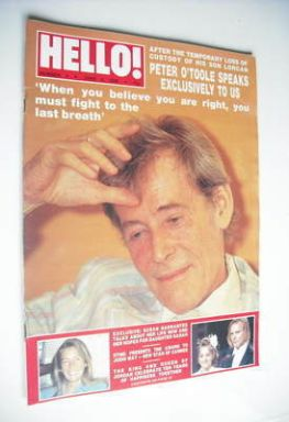<!--1988-06-04-->Hello! magazine - Peter O'Toole cover (4 June 1988 – Issue