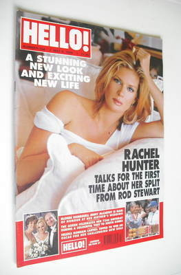 <!--1999-05-04-->Hello! magazine - Rachel Hunter cover (4 May 1999 - Issue