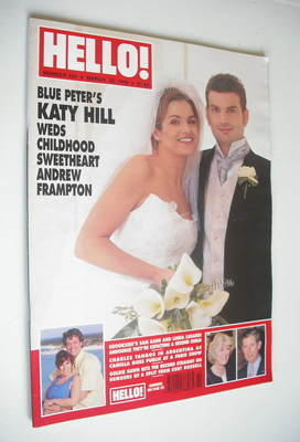<!--1999-03-20-->Hello! magazine - Katy Hill wedding cover (20 March 1999 -