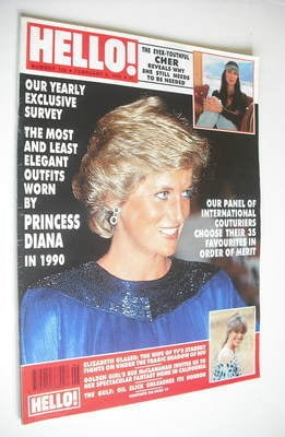 <!--1991-02-09-->Hello! magazine - Princess Diana cover (9 February 1991 -
