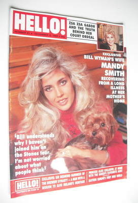 <!--1989-12-09-->Hello! magazine - Mandy Smith cover (9 December 1989 - Iss