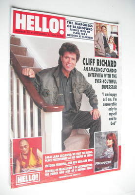 <!--1989-12-02-->Hello! magazine - Cliff Richard cover (2 December 1989 - I