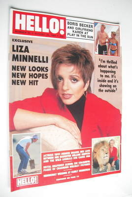 <!--1989-08-26-->Hello! magazine - Liza Minnelli cover (26 August 1989 - Is