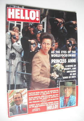 <!--1989-04-22-->Hello! magazine - Princess Anne cover (22 April 1989 - Iss