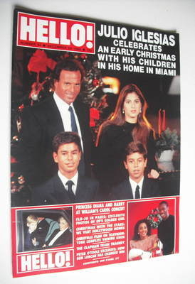 <!--1988-12-24-->Hello! magazine - Julio Iglesias and Enrique Iglesias cove