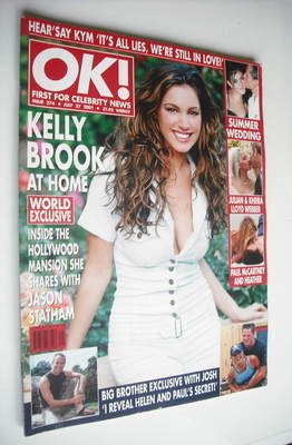 <!--2001-07-27-->OK! magazine - Kelly Brook cover (27 July 2001 - Issue 274