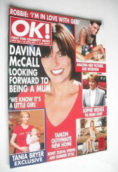 OK! magazine - Davina McCall cover (20 April 2001 - Issue 260)
