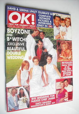 <!--2000-07-07-->OK! magazine - Boyzone and B*Witched cover (7 July 2000 -