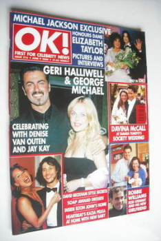 OK! magazine - George Michael and Geri Halliwell cover (9 June 2000 - Issue 216)