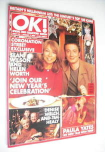 OK! magazine - Sean Wilson and Helen Worth cover (7 January 2000 - Issue 194)