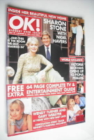 <!--1999-11-26-->OK! magazine - Sharon Stone and Nigel Havers cover (26 November 1999 - Issue 189)