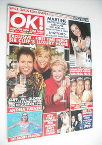 <!--1999-01-08-->OK! magazine - Cliff Richard, Jill Dando and Gloria Hunnif