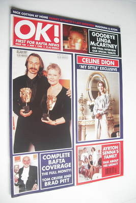 <!--1998-05-01-->OK! magazine - Bafta Coverage (1 May 1998 - Issue 108)