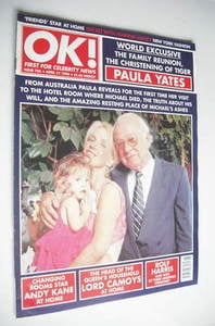 <!--1998-04-17-->OK! magazine - Paula Yates cover (17 April 1998 - Issue 10