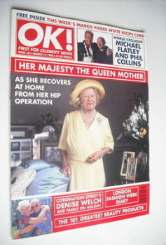 OK! magazine - The Queen Mother cover (13 March 1998 - Issue 101)