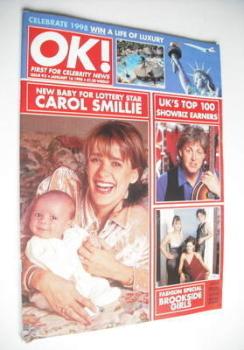 OK! magazine - Carol Smillie cover (16 January 1998 - Issue 93)