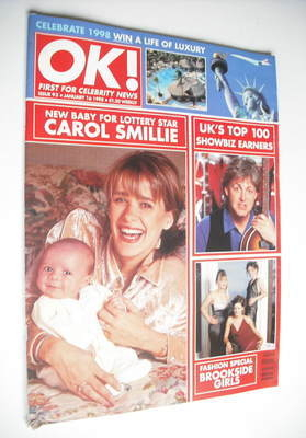 <!--1998-01-16-->OK! magazine - Carol Smillie cover (16 January 1998 - Issu