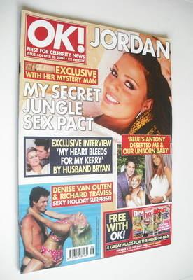 <!--2004-02-10-->OK! magazine - Jordan Katie Price cover (10 February 2004