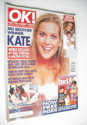 <!--2002-08-14-->OK! magazine - Kate Lawler cover (14 August 2002 - Issue 3