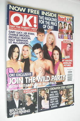 <!--2002-07-17-->OK! magazine - Britain's New Brat Pack cover (17 July 2002