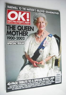 <!--2002-04-11-->OK! magazine - The Queen Mother cover (11 April 2002 - Iss