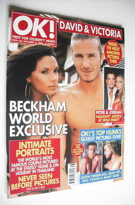 <!--2004-09-21-->OK! magazine - David Beckham and Victoria Beckham cover (2