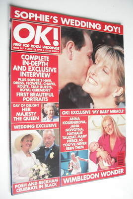 <!--1999-06-25-->OK! magazine - Prince Edward and Sophie Rhys-Jones cover (