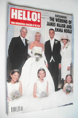 <!--1999-06-08-->Hello! magazine - James Major and Emma Noble wedding cover