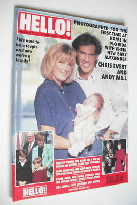 <!--1991-11-09-->Hello! magazine - Chris Evert and Andy Mill cover (9 Novem