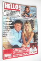 <!--1991-09-28-->Hello! magazine - Donald Trump and Marla Maples cover (28 September 1991 - Issue 171)