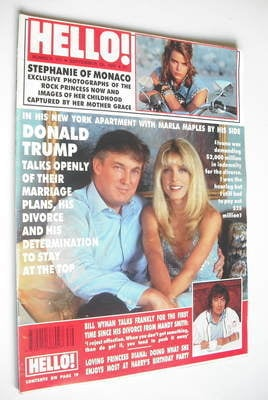 <!--1991-09-28-->Hello! magazine - Donald Trump and Marla Maples cover (28