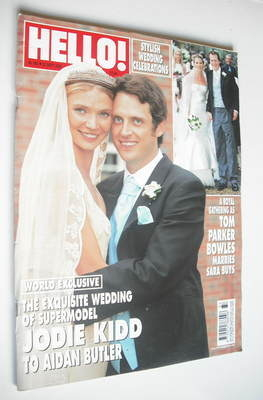 <!--2005-09-22-->Hello! magazine - Jodie Kidd and Aidan Butler wedding (22