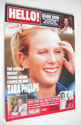 <!--1999-03-30-->Hello! magazine - Zara Phillips cover (30 March 1999 - Iss